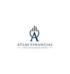 Atlas financial logo design template vector