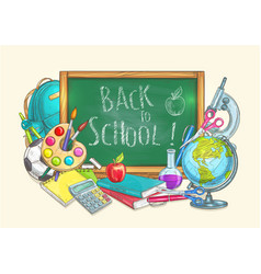 back to school welcome banner background vector image