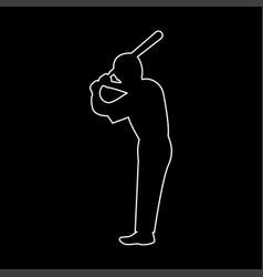 Ballplayer the white path icon vector