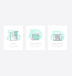 Banking operation - line design style icons set vector