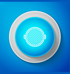 barbecue grill icon isolated on blue background vector image