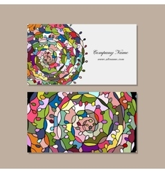 Business card design floral mandala vector