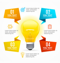 business infographic idea concept vector image