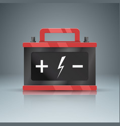 business infographics battery car icon vector image