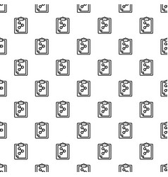 chemical checklist pattern seamless vector image