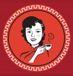 Chinese Retro Person vector image