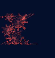 Coronavirus outbreak and influenza background vector