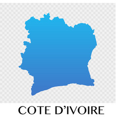 Cote divoire map in africa continent design vector