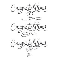 Design a set of labels Congratulations vector image