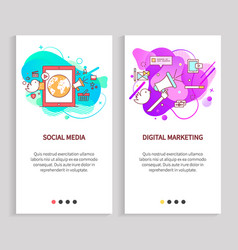 design app slide online communication vector image