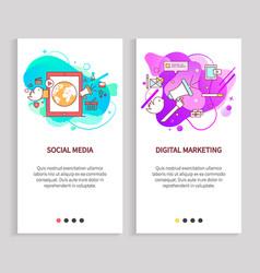 Design app slide online communication vector
