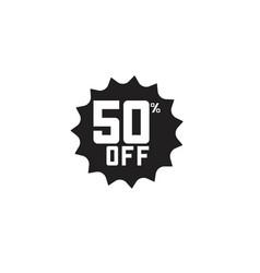 Discount 50 off label template design vector