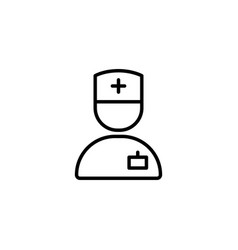 doctor icon icon on white background vector image