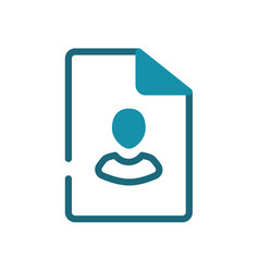 File personal user single isolated icon vector