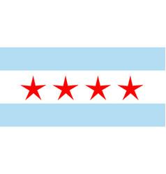 Flag chicago as vector