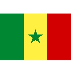 Flag of Senegal in correct proportions and colors vector image