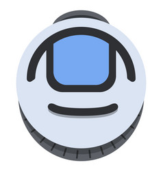 flat monowheel balance vehicle icon vector image