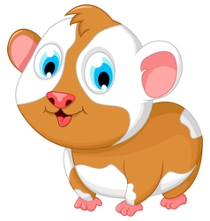 funny fat hamster cartoon posing vector image