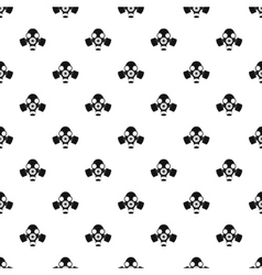 Gas mask pattern simple style vector