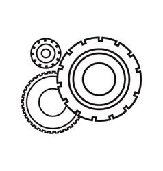 Gears wheels design vector