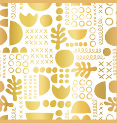 gold foil geometric shapes on black seamless vector image