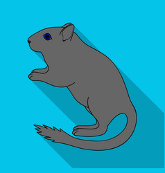 Gray gerbilanimals single icon in flat style vector