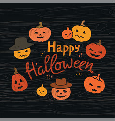 halloween spooky poster greeting card mockup vector image