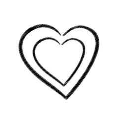 Hand drawing heart health icon vector