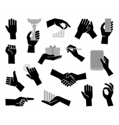Hands Flat business symbol vector image