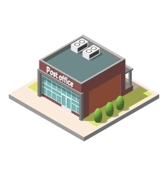 Isometric Post office building Isolated vector