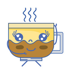 Kawaii cute happy coffee cup vector