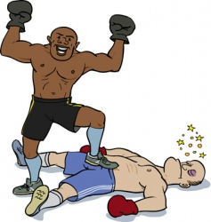 knockout victory vector image