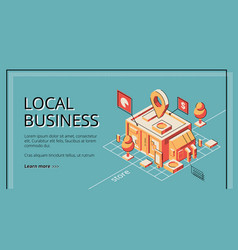 lending program for local business website vector image