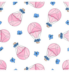 Love balloon valentines day seamless pattern vector
