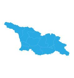 map of georgia high detailed map - georgia vector image