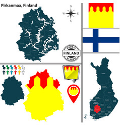 map of pirkanmaa finland vector image