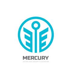 Mercury - logo template concept vector
