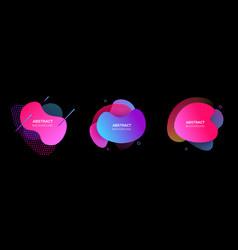 modern futuristic cover elements set vector image