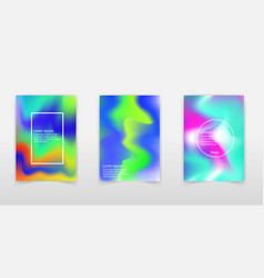 modern holographic foil background liquid color vector image