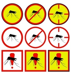 Mosquito icons vector