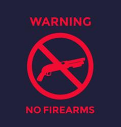 No guns sign with shotgun no firearms poster vector