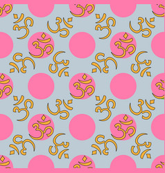 om seamless pattern vector image