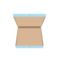 Open pizza box icon vector