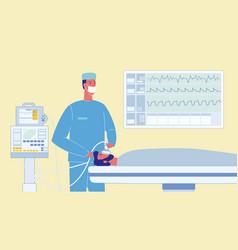 Patient in reanimation cartoon vector