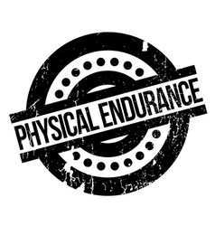 Physical endurance rubber stamp vector