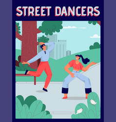 poster street dancers concept vector image