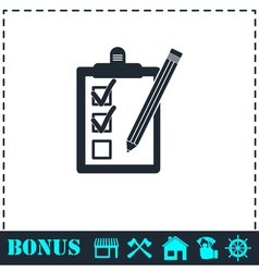 Quality control icon flat vector