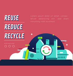 Recycle plastic campaign graphic content layout vector