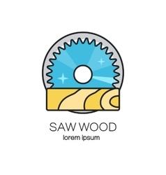 Saw wood logotype vector image