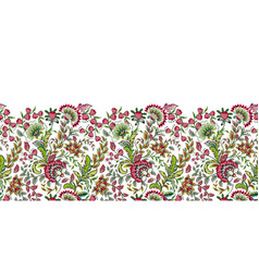 Seamless floral banner frame seamless border with vector